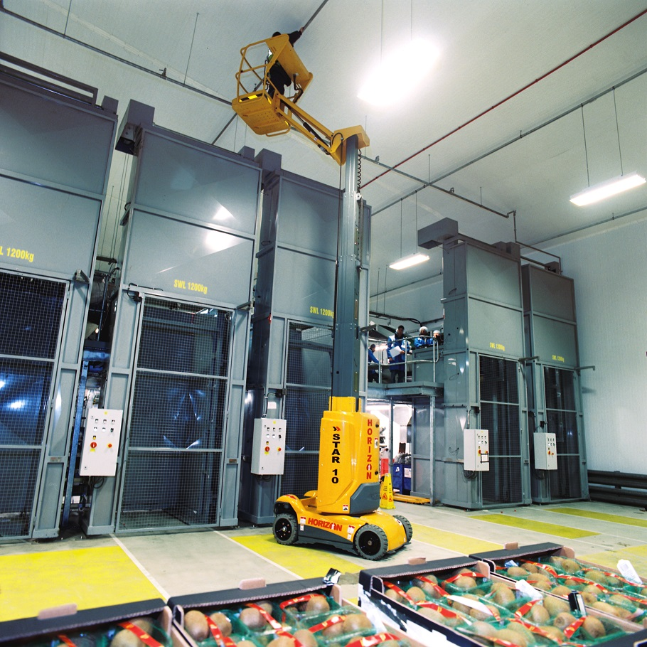 Electric scissor lifts enable you to safely clean & maintain your food factory. Talk to Horizon Platforms today about food processing MEWP hire